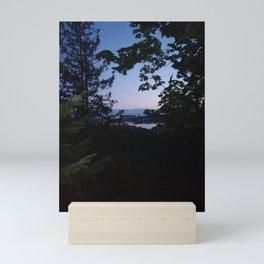 Night scene from Sechelt BC Canada Mini Art Print