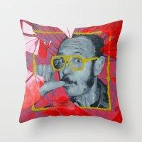 terry fan Throw Pillows featuring Terry by Dmitry  Buldakov