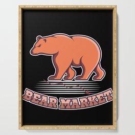 Bear Market Stock Exchange Shares Investor Trader Serving Tray