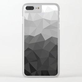 Low polygon monochromatic minimalism Clear iPhone Case