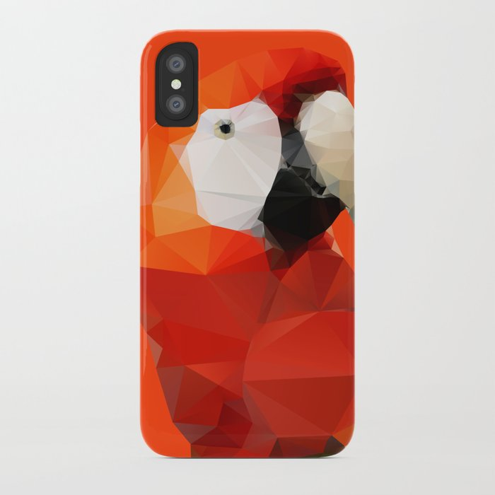 Geo - Parrot red iPhone Case
