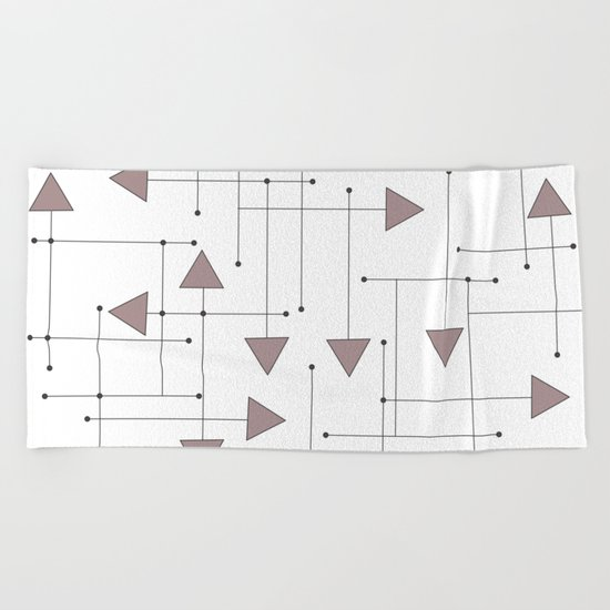 Lines & Arrows Beach Towel