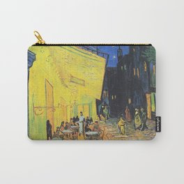 Café Terrace at Night by Vincent van Gogh Carry-All Pouch
