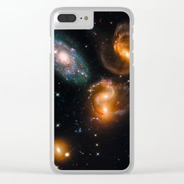 Galactic Wreckage Clear iPhone Case
