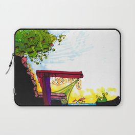 Gypsy River Architectural Illustration 89 Laptop Sleeve