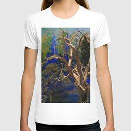CONTEMPORARY BLUE  WILDERNESS ART  DESIGN T-shirt