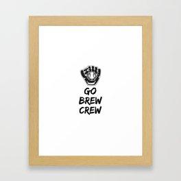 Go Brew Crew Framed Art Print