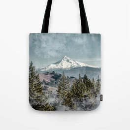 Frosty Mountain - Nature Photography Tote Bag