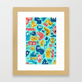 Colorful Character Shapes Framed Art Print