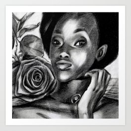 Pretty Blacky Art Print