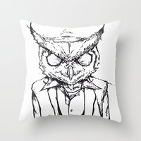 hotline miami Throw Pillows featuring Hotline Miami by Leamartes
