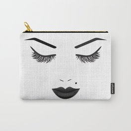 Black Lips Beauty Face Carry-All Pouch