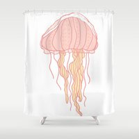 jellyfish Shower Curtains featuring Jellyfish by Doucette Designs