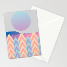 Forest under the moon Stationery Cards
