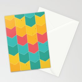 Colorful chevrons Stationery Cards