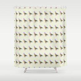 Fruit Dove Watercolour Shower Curtain