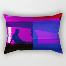 Real Glitch Effect Lovers in Nice French Riviera Rectangular Pillow