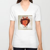 acdc V-neck T-shirts featuring ACDC   Highway to Hell by KVNCHRLZ