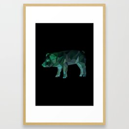 Animal Slang - Pig Framed Art Print