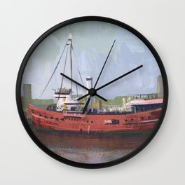 THE FRYING PAN, Travel Sketch by Frank-Joseph Wall Clock