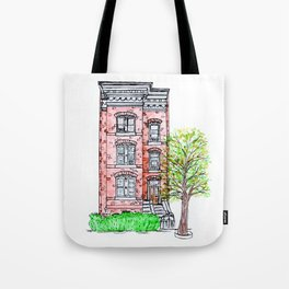 DC Row House No. 3 II Capitol Hill Tote Bag