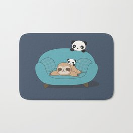 Kawaii Panda and Sloth Bath Mat