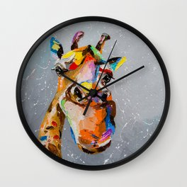 Funny giraffe Wall Clock