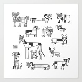 dogs of Berlin Art Print