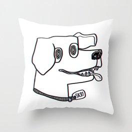 sick dog! Throw Pillow