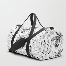 Dragonflies and flowers Duffle Bag