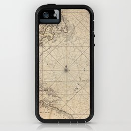 1683 Map of North America, West Indies, and Atlantic Ocean iPhone Case