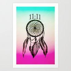11:11 Eleven Eleven Spiritual Dream Catcher Art Print