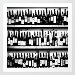 Wine Bottles in Black And White #society6 #decor Art Print
