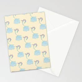 Echeveria Succulent Plant Pattern Stationery Cards