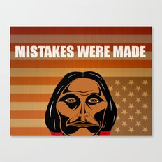 Mistakes Were Made Canvas Print