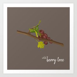 wild berry tree Art Print