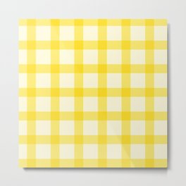 Yellow Lines Pattern Metal Print