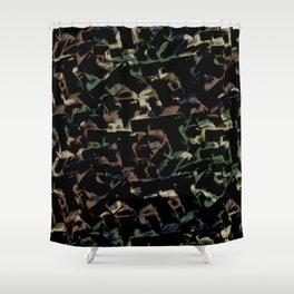 Gun Camo Shower Curtain