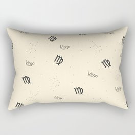 Virgo Pattern - Beige Rectangular Pillow