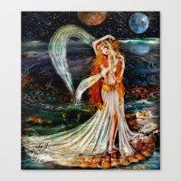 venus Canvas Prints featuring Venus  by ShekariArt