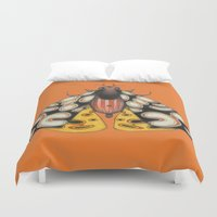 moth Duvet Covers featuring moth (ORIGINAL SOLD). by Federico Cortese