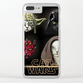 Cat wars 4 Two Clear iPhone Case