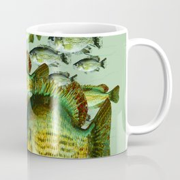 GREENISH  SEA BASS FISHING GRAPHIC Coffee Mug