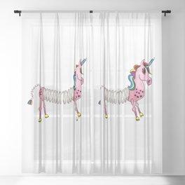Slinky Unicorn Sheer Curtain