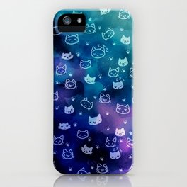 Kitty galaxy-meow iPhone Case