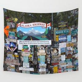 Watson Lake, YT, Canada Wall Tapestry
