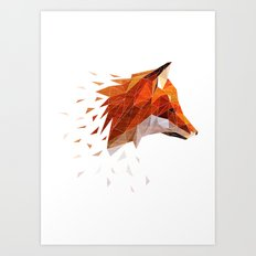 Broken Fox Art Print