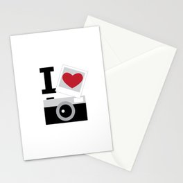 I love camera Stationery Cards