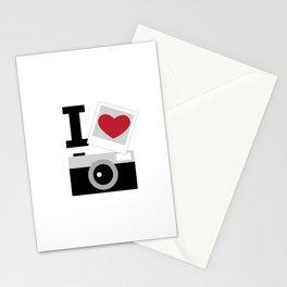 I love camera Stationery Cards