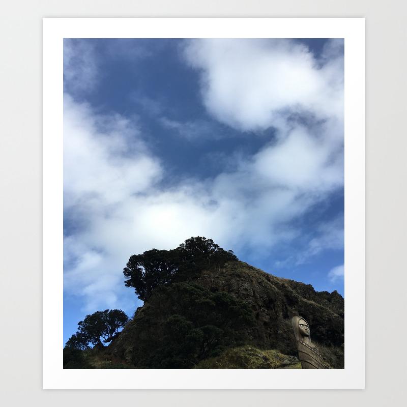 Lion Rock Piha Beach Auckland New Zealand 2 Art Print By Lrhill